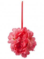 Suspension pivoines fuchsia en tissu 32 cm