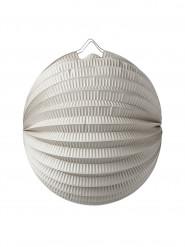 Lampion boule en papier gris 20 cm