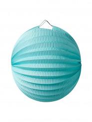 Lampion boule en papier menthe 20 cm