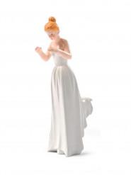Figurine mariée portée blonde