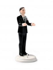 Figurine marié porteur brun