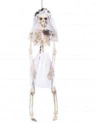 Décoration à suspendre mariée squelette 40 cm Halloween