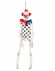 Décoration à suspendre squelette clown 40 cm Halloween