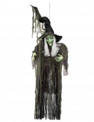 Décoration à suspendre sorcière Halloween 190 cm