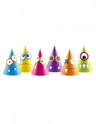6 Chapeaux de fête petits monstres