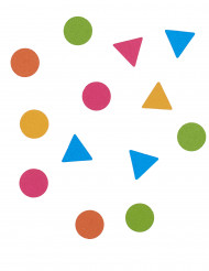 Confettis multicolores formes géométriques