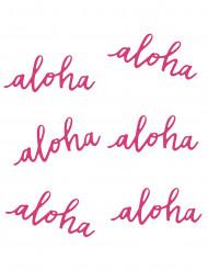 6 Décorations de table Aloha 12,5 cm