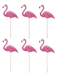 6 Pics Flamants roses 23 cm