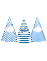 6 Chapeaux de fête Petit avion