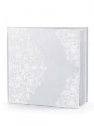 Livre d'or blanc avec motifs 22 pages