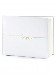 Livre d'or blanc Love