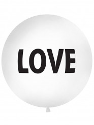 Ballon latex géant blanc Love 1 mètre