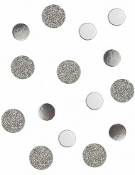 Confettis de table argent