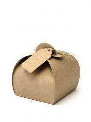 10 Boïtes en carton avec étiquettes 6 cm