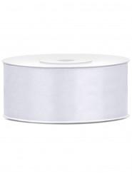 Ruban satin blanc 2,5 cm x 25 m