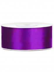 Ruban satin violet 2,5 cm x 25 m