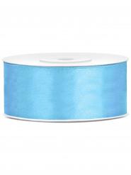 Ruban satin bleu 2,5 cm x 25 m
