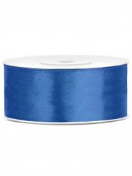 Ruban satin bleu marine 2,5 cm x 25 m