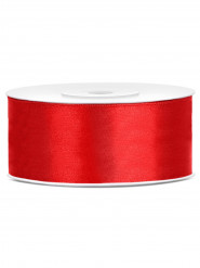 Ruban satin rouge 2,5 cm x 25 m