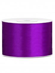 Ruban satin violet  5 cm x 25 m