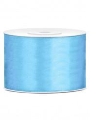 Ruban satin bleu 5 cm x 25 m