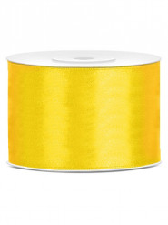 Ruban satin jaune  5 cm x 25 m