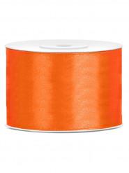 Ruban satin orange  5 cm x 25 mètres