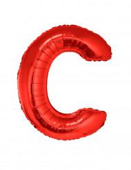 Ballon aluminium géant lettre C rouge 102 cm
