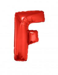 Ballon aluminium géant lettre F rouge 102 cm