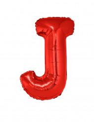 Ballon aluminium géant lettre J rouge 102 cm