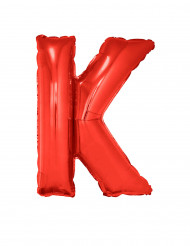 Ballon aluminium géant lettre K rouge 102 cm