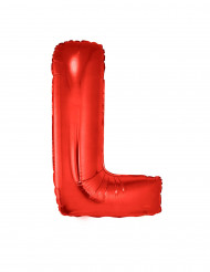 Ballon aluminium géant lettre L rouge 102 cm