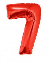 Ballon aluminium géant chiffre 7 rouge 102 cm