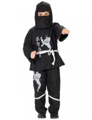 Déguisement ninja noir et blanc enfant