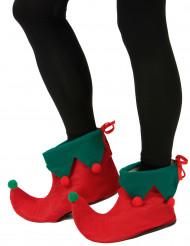 Sur-chaussures elfe avec pompons adulte