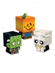 Lot de 3 boîtes surprises Trick or Treat pour Halloween multicolores