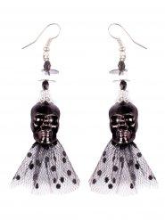 Boucles d'oreilles crâne gothique 6.5 cm