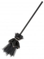 Balai de sorcière tulle noir 105 cm
