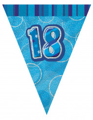 Guirlande fanions bleu Age 18 ans 2,74 m