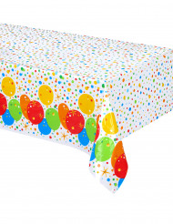 Nappe en plastique Happy Birthday mutlicolore et doré 137cm x 213cm