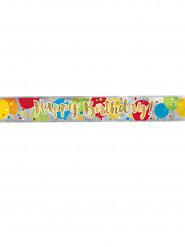 Bannière Happy Birthday multicolore et doré