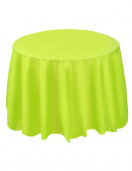 Nappe plastique ronde vert pomme 213 cm