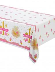 Nappe plastique cupacke rose et doré 1er anniversaire 137cm x 213 cm