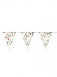 Guirlande fanions happy birthday pois multicolores