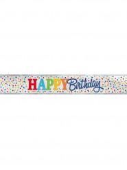 Bannière Happy birthday pois colorés 3.65 mètres