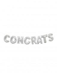 Ballon aluminium lettres Congrats 35,5 cm