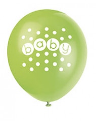 8 Ballons Baby Shower pastel