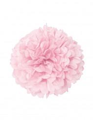 Pompon rose en papier 40 cm