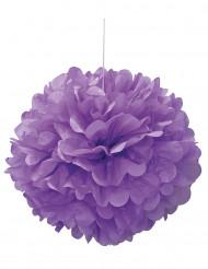 Pompon violet en papier 40 cm