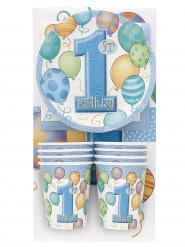 Kit de vaisselle 1er anniversaire bleu